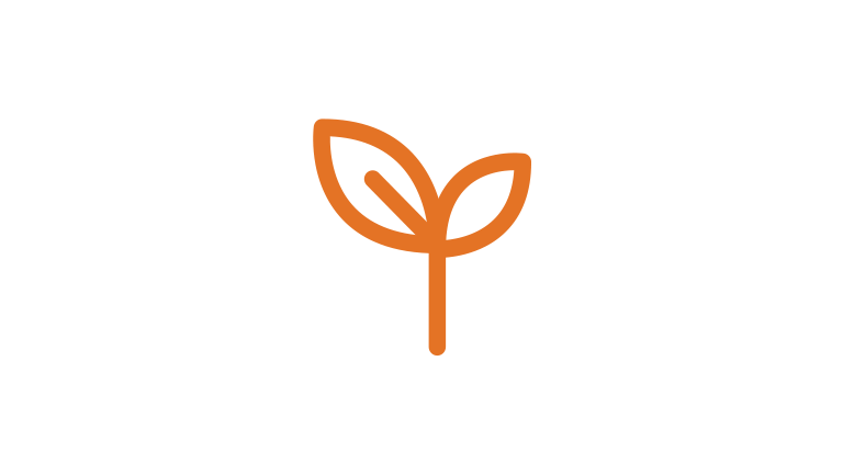 Growing seed icon - growing a business logo