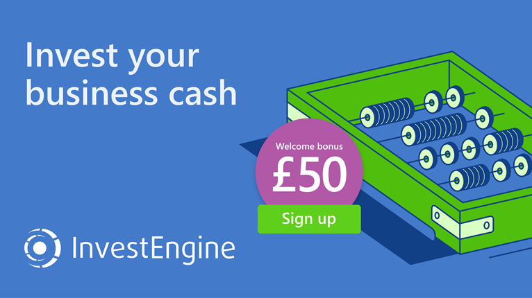 Invest your business cash with InvestEngine