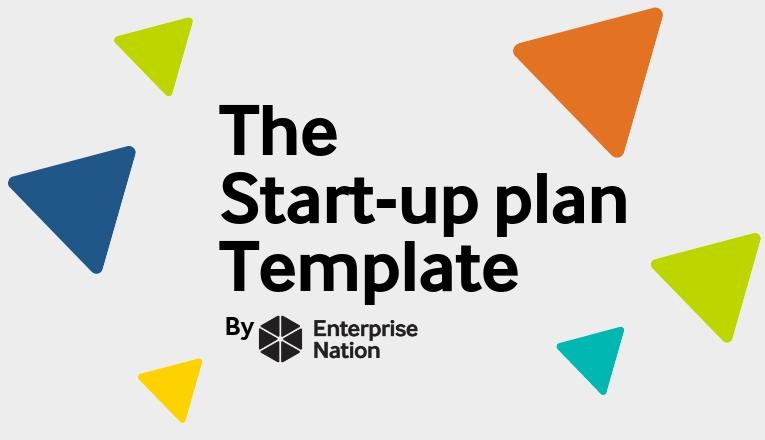 The start-up plan template logo