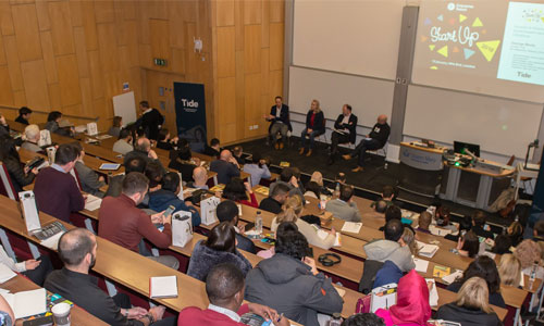 Partner event with audience in lecture theatre