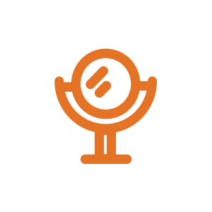 Mirror icon - beauty sector logo