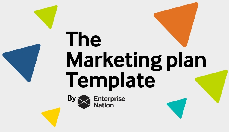 The marketing plan template logo